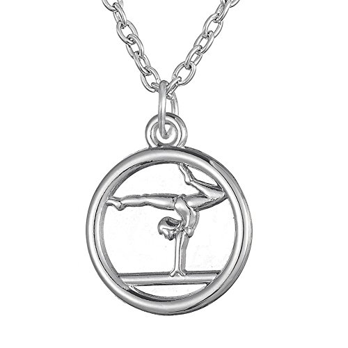 Gymnastics Pendant Trendy Necklace for Girls