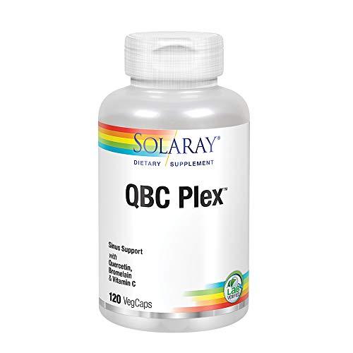 Solaray QBC Plex | Quercetin & Bromelain Plus Vitamin C | Year Round Immune Function & Respiratory Health Support | Non-GMO & Vegan | 120 VegCaps