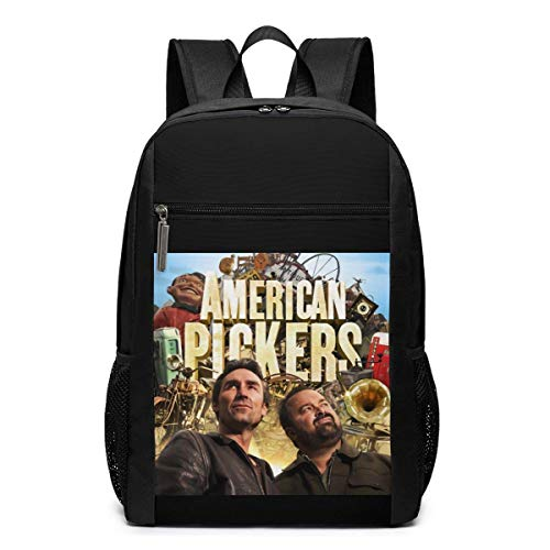 Lawenp American Pickers Poster Backpack 17 Inch Laptop Bags College School Backpack Casual Daypack for Travel