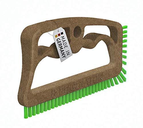 Fuginator Cepillo para juntas BIO marrón/verde - de materias primas renovables - Cepillo para limpieza de juntas en baño, cocina y hogar, diseño patentado