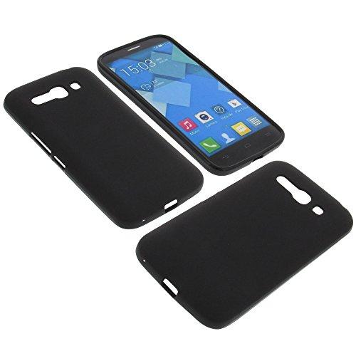 foto-kontor Tasche für Alcatel One Touch Pop C9 Gummi TPU Schutz Hülle Handytasche schwarz