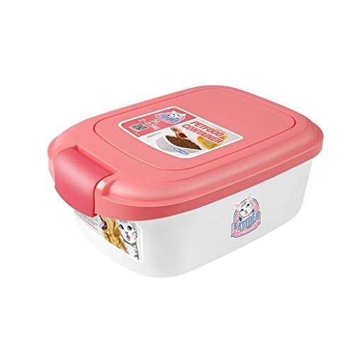 YLCCC 2kg Einzeldeckel Lagerung Eimer, Hundefutter Katzenfutter-Aufbewahrungsbehälter, Sealed Frischhaltung Glas mit Löffel