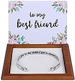 Best Friend Gifts for Women Friends Female BFF Bestie Jewelry Best Friend Bracelet Birthday Christmas Ideas Friendship Gifts Friendship Bracelets Stuff You're the Sister I Got to Choose