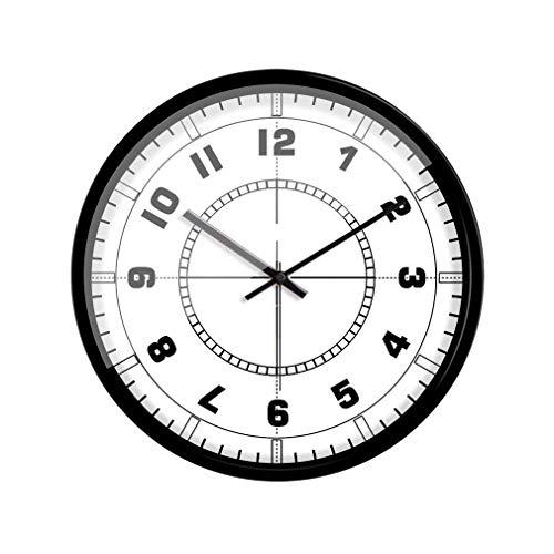 MingXinJia Relojes de Cabecera para el Hogar Reloj de Pared, Números Árabes de Personalidad Relojes de Decoración Sala de Estar Dormitorio Hogar Metal/Campana de Pared de Vidrio