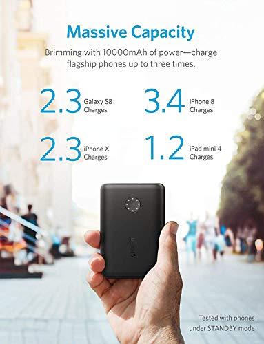AnkerPowerCoreII10000(モバイルバッテリー10000mAh大容量)【PSE認証済/PowerIQ2.0搭載/LEDWheel】iPhone&Android対応(ブラック)