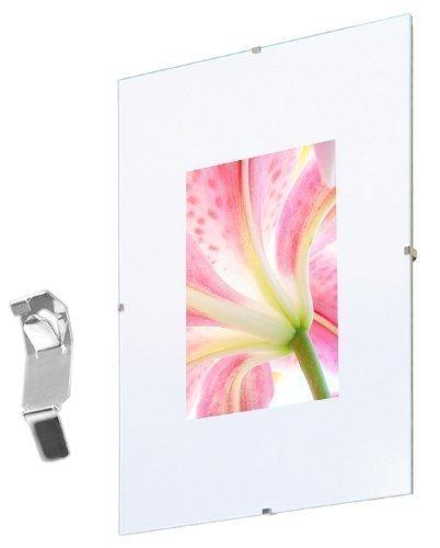 Fotolijst Randloos 40x50 cm, 5-delig pak, frameloos fotolijst kunststof glas