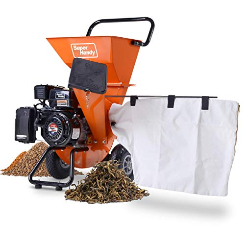 "SuperHandy Wood Chipper Shredder Mulcher Ultra Heavy Duty 7HP 212cc 3 in 1 Multi-Function 3"" Inch Max Capacity (Amazon Exclusive)"
