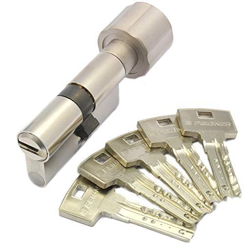 ABUS Bravus.2500 MX Magnet Knaufzylinder 45/40K inkl. 5 Schlüssel - Wendeschlüssel-Sicherheitszylinder - Sicherungskarte - Modulbauweise - Patentschutz bis 2037 (K=Knaufseite)