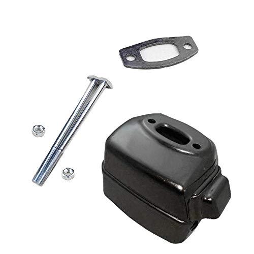 Silenciador de escape de sierra de cadena con junta de perno para accesorios de cortadora de césped eléctrica STIHL MS290 MS310 MS390 MS390 029039, con reemplazo de arandela de cojinete de agujas