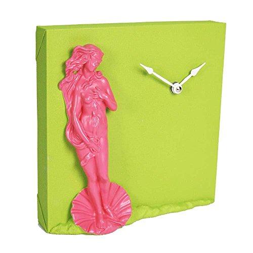 Reloj de pared/mesa embolsados verde de resina hecha a mano