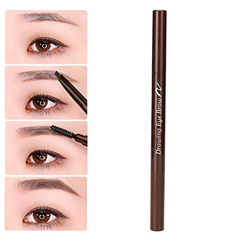 Automatic and rotary double eyebrow pencil, waterproof and sweat-resistant eyebrow pen (01)