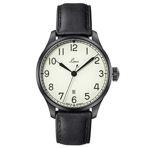 Laco Casablanca 42 - Reloj de Marinero de 42 mm de diámetro - Reloj automático - Resistente al Agua - Desde 1925