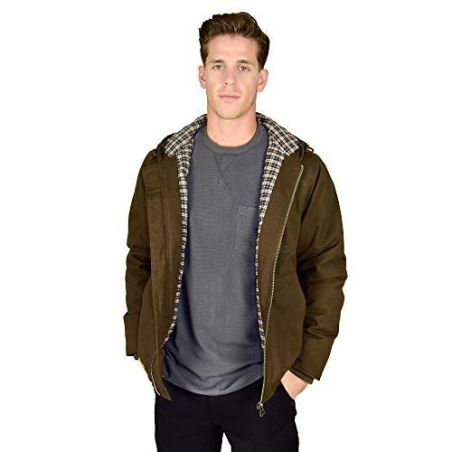 Stanley Arbeitskleidung Herren große und große Größe schwere Ente Canvas Jacke mit Flanellfutter - Braun - 4X-Large Hoch