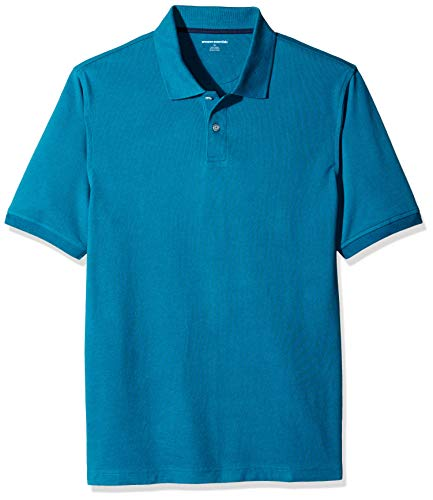Amazon Essentials Men's Regular-Fit Cotton Pique Polo Shirt, Dark Teal, X-Large