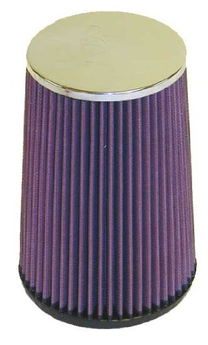 K & N RF-1025 Universal Clamp On Air Filter 3–1/10,2 cm flg, 5–1/5,1 cm od-b, 4–1/5,1 cm od-t, 20,3 cm H, 3/40,6 cm Loch (Universal Air Filter)