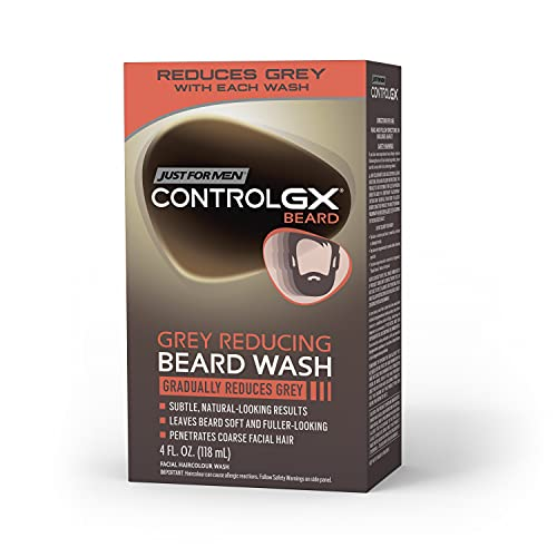 Just for Men Just For Men Control GX Grey Reducing Beard Wash, Gradually Colors Mustache and Beard, 4 Ounce, Pack of 1