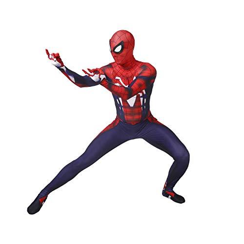 Luxus-Film-Kostüm Cosplay Spiderman Erwachsene Kinder Mens feste Bodysuit Anzug Overall Anime Superheld Role Playing Morph Attire (Color : Red Blue, Size : Adult L 165-170CM)