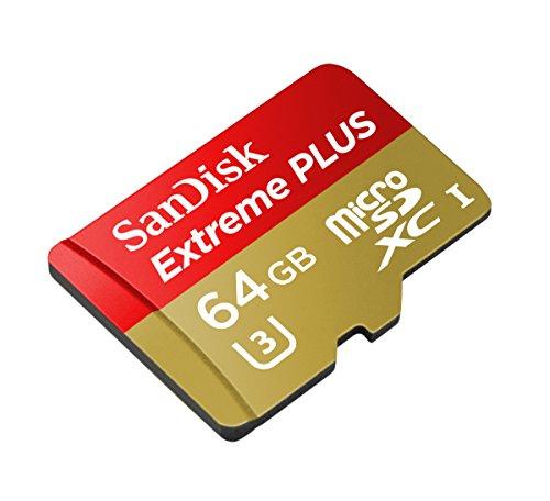 SanDisk Extreme Plus microSDXC 64GB UHS-I Class 10 U3 Speicherkarte bis zu 80MB/s lesen