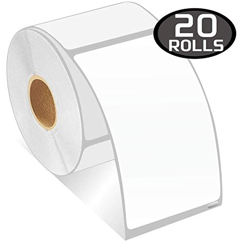 """BETCKEY - Compatible DYMO 30256 (2-5/16"""" x 4"""") Replacement Shipping Labels - Compatible with Rollo, DYMO Labelwriter 450, 4XL & Zebra Desktop Printers[20 Rolls/6000 Labels]"""