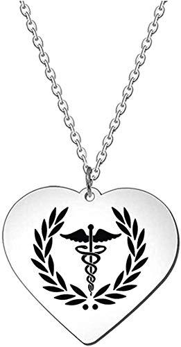 Mxdztu Co.,ltd Collar Estrella de la Vida Serpiente Palo en corazón Colgante Collar Llavero joyería Regalos para niñas