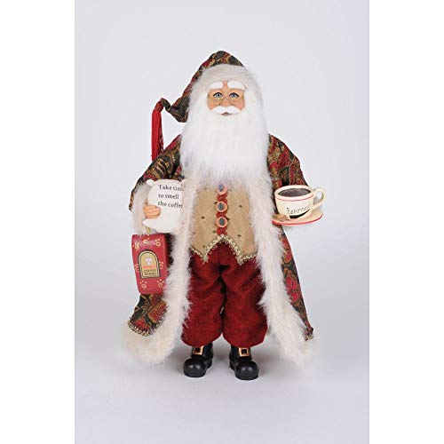 Karen Didion Originals Crakewood Coffee Santa Claus Figurine