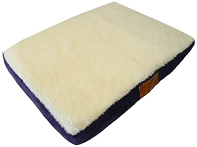 Ellie-Bo Memory Foam Orthopedic Dog Bed with Faux Suede and Sheepskin Topping for Dog Cage/ Crate Medium 30-inch