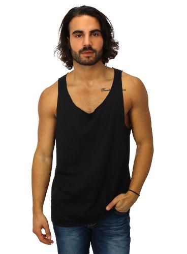 Urban Classics Open Edge Loose Tank Top Muscle Shirt Bodybuilder Herren schwarz schwarz XXL