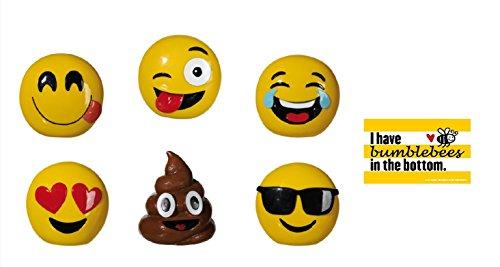 NV Emoji - Spardose Emotion & Postkarte I Have bumblebees in The Bottom - Set (Bild - 2)