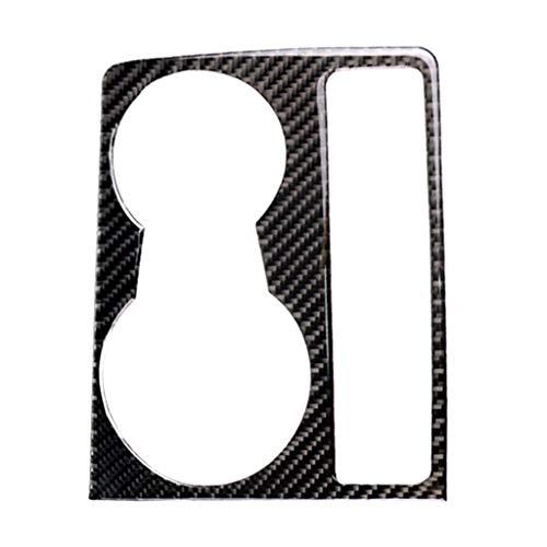 SDENSHI Coche Real Fibra De Carbono Interior Portavasos Decoración Marco Ajuste Para Audi A4 B8 A5