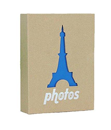 Wei Long Photo Album Hold 100 Pockets, 4'x 6' Photos, (Eiffel Tower)