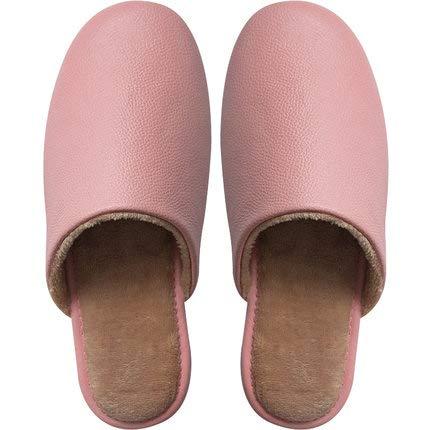 HAOXUAN Zapatillas de Punta Abierta Material de Cuero Zapatillas Antideslizantes Planas de Vestir, Desodorante, SOFE, diseño Elegante, le brindan una Apariencia, Rosado,41