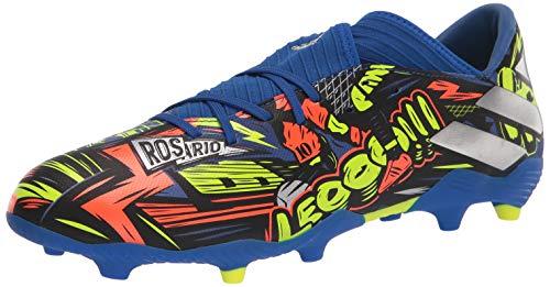 adidas mens Nemeziz Messi 19.3 Firm Ground Soccer Shoe, Royal Blue/Silver/Yellow, 10 US