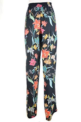 LUISA VIOLA Pantalone Donna Nero Fiori Taglie comode Curvy Style (Elena Miro) p169f0362z 41