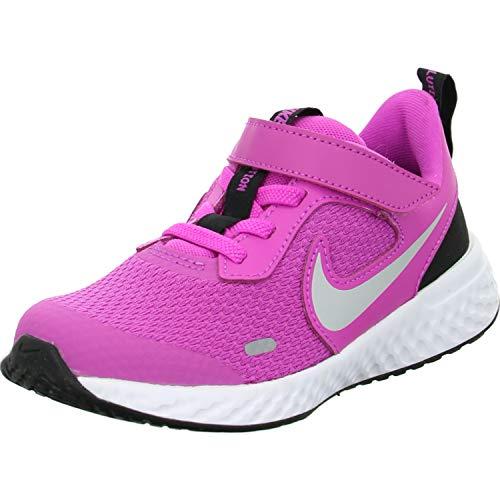 Nike Revolution 5 (TDV), Scarpe da Ginnastica Unisex-Bambini, Fucsia (Active Fuchsia/Metallic Silver/Black), 21 EU