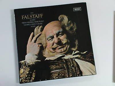 lp VERDI falstaff 3 LP box set SOLTI , decca 2 BB 104-6