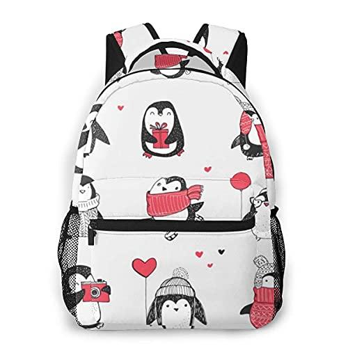 Lawenp Mochila Unisex de Moda Mochila con diseño de pingüino Mochila Ligera para portátil para Viajes Escolares Acampar al Aire Libre