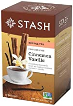 Stash Tea Premium Caffeine Free Herbal Tea, Cinnamon Vanilla, 18 Count