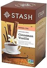 Stash Tea Premium Caffeine Free Herbal Tea, Cinnamon Vanilla, 18 Count