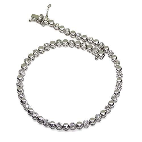 Never Say Never Pulsera con 0.66cts de Diamantes en Oro Blanco de 18k de 18.00cm de Largo con Cierre cajetin y 8 de Seguridad.