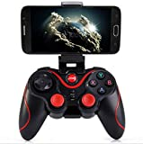Leton-IT Mando Inalámbrico para Juegos Compatibles con Android/iOS, 2.4GHz Bluetooth Gamepad para PC / PS3 / iPhone/iPad/TV, Controlador de Juego móvil PUBG Mobile Game Controller Joystick
