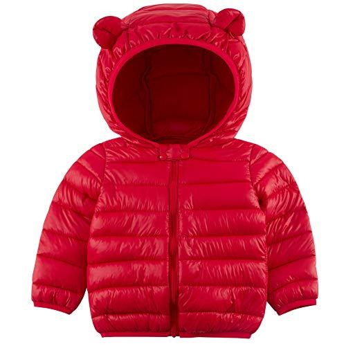 RAISEVERN Baby Boy Puffer Mäntel Gepolsterte leichte Kleinkinder Jacke Kid Ear Outwear Winter Warm Down Outfits mit Reißverschluss 2-3 Jahre