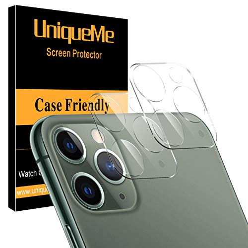 [ 2 Pack ] UniqueMe Camera Lens Protector for iPhone 11 Pro/iPhone 11 Pro Max [High Definition] Scratch Resistant