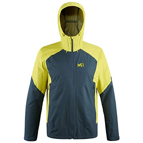 Millet - Fitz Roy III JKT M - Hardshell-Jacke für Herren - Wasserdichte und atmungsaktive Dryedge-Membran - Bergsteigen, Wandern, Trekking, Lifestyle - Anisgrün/Blau