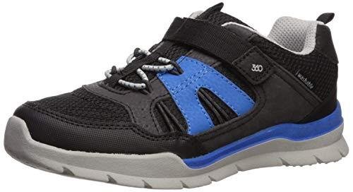 Mid-Tier Boys' Stride Rite Dive Girl's Machine Washable Athletic Sneaker, Black, 8