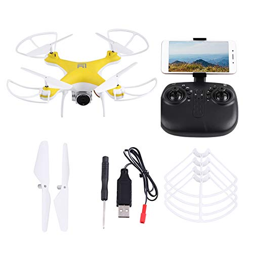 Bicaquu Camera Quadcopter RC Quadcopter, Headless WiFi FPV Remote Control Drone, Outdoor for Beginners Remote Control(200w Camera)