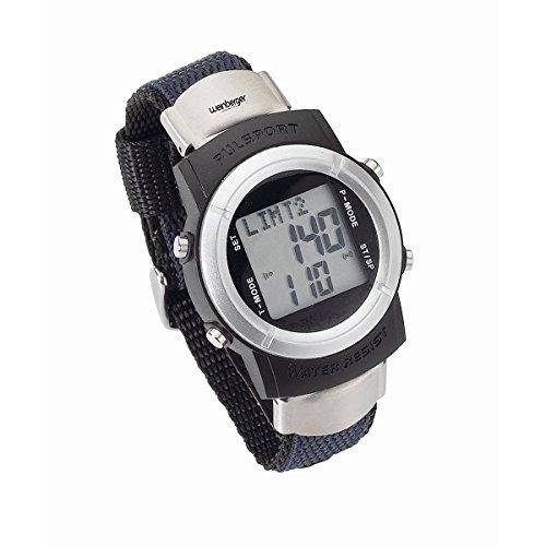 Weinberger Pulsuhr Pulsmesser Armbanduhr Stoppuhr Sport Uhr inkl. Brustgurt