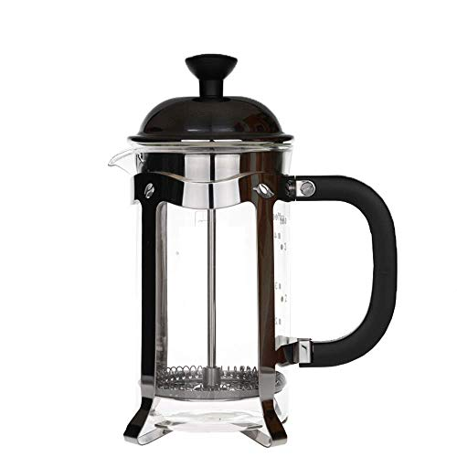 ZGQA-GQA De café francés de la Prensa de Acero Inoxidable Cafetera hogar Cafetera Prensa Pot Electrodomésticos Café Esencial (Color: Claro, Tamaño: 700CC)