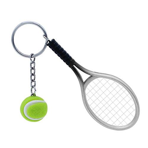 VOSAREA Schlüsselanhänger Sport Schlüsselanhänger Tennis Ball Schlüsselanhänger Keychain