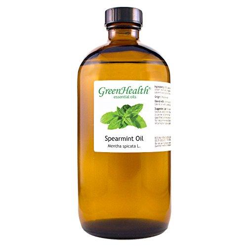 GreenHealth Spearmint – 100% Pure Essential Oil 16 fl oz (473 ml) Glass Bottle