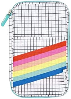 Yoobi Pencil Organizer - Grid Rainbow Stripe